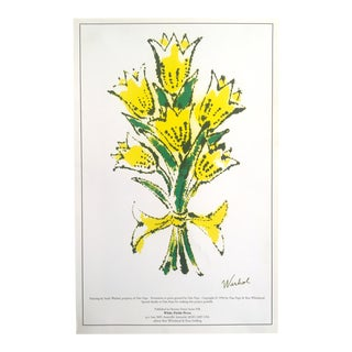 "Andy Warhol Original Vintage 1996 Pop Art Lithograph Print Poster ""Yellow Lilies"""
