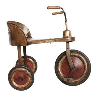 Vintage Anglo-Indian Iron & Wood Tricycle