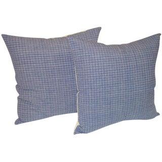 19th Century Linen Plaid Pillows