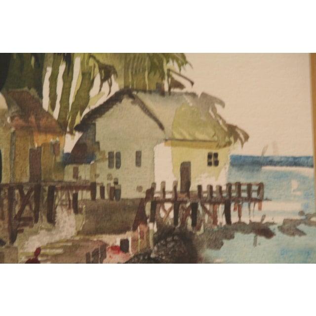 Original Bruce Spicer Vintage Coastal Watercolor Painting - Image 7 of 9