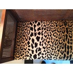 Image of 1960s Caned Leopard Bench