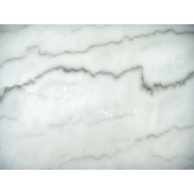 White Italian Marble Console/Bistro/Dining Table - Image 8 of 8