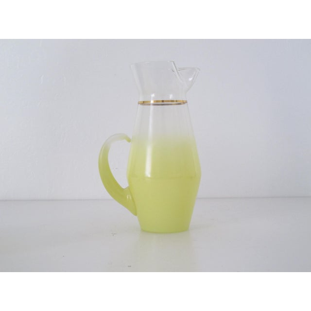 1970s Yellow Blendo Pitcher and Cups - Set of 7 - Image 3 of 9