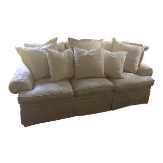 Henredon Fireside White Sofa