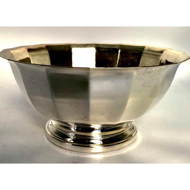Vintage Gorham Fluted Silve Plate Bowl - Image 5 of 8