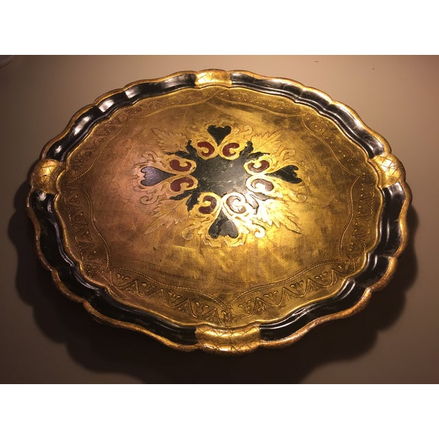 Florentine Round Gilt Tray - Image 2 of 6