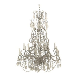 Early 20th Century French Crystal Chandelier