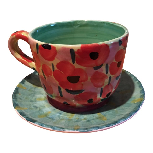 Impressionist Waterlily Large Teacup - Image 1 of 6
