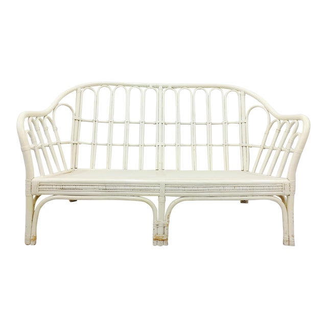 Vintage Rattan Love Seat Sofa - Image 1 of 9