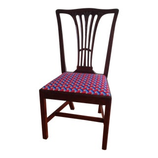 Wooden Chair With Mexican Handmade Upholstery