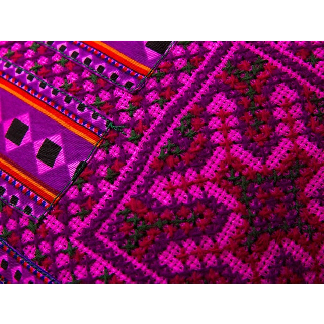 Image of Hill Tribe Pink Pillow - Handmade in Thailand
