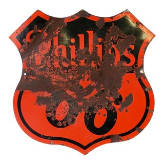 Vintage Phillips 66 Porcelain Sign Circa 1950s