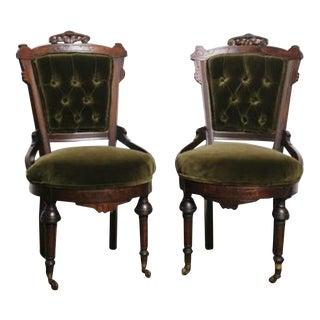 Antique Victorian Chairs - a Pair