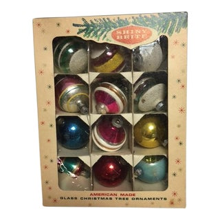 Vintage Assorted Christmas Ornaments - Set of 12