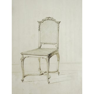 Louis XV Chair Drawing Circa 1800