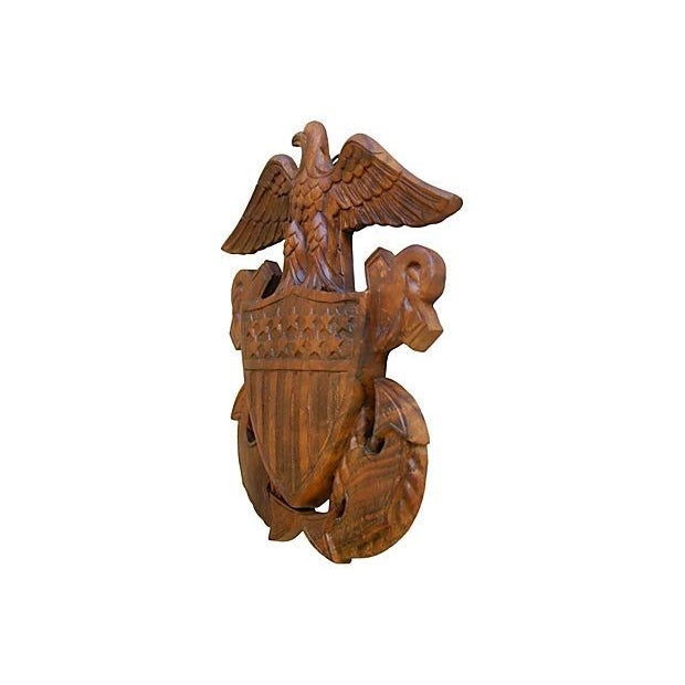 1960s Carved Wooden Patriotic Plaque - Image 3 of 6