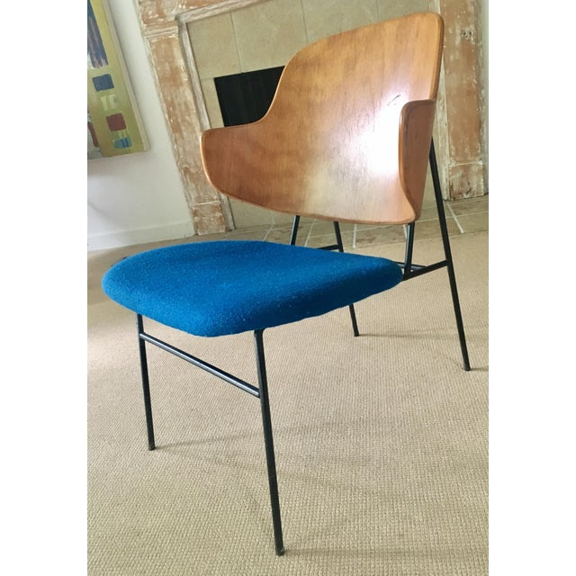 "Ib Kofod Larsen ""Penguin"" Chair in Blue - Image 4 of 11"