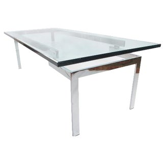 Glass & Chrome Staggered Base Coffee Table