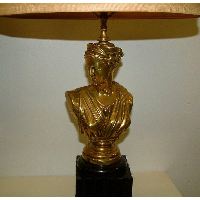 Brass Classical Bust Lamps - A Pair - Image 4 of 8