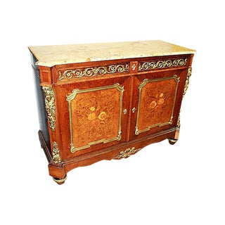 19th-C. French Marquetry Buffet