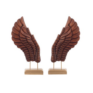 Wooden Décor Wings III - Pair