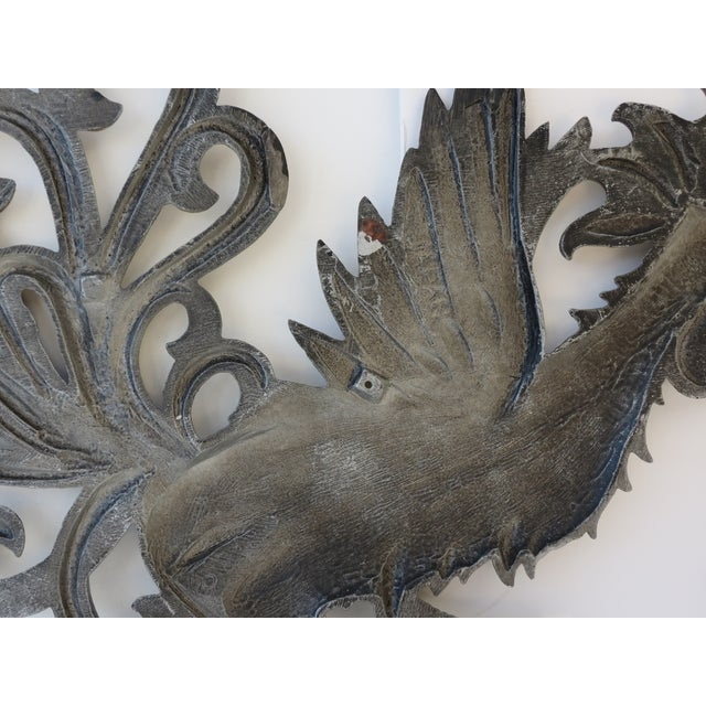 Brass Rooster Wall Hangings- A Pair - Image 7 of 9