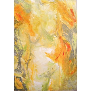 "Trixie Pitts ""Ivory Torso"" Abstract Oil Painting"
