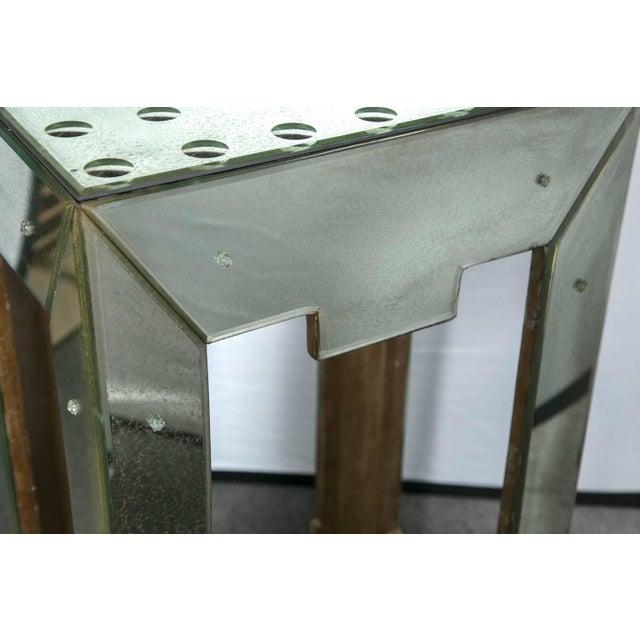 Mirrored Bullseye Art Deco Side Tables - Pair - Image 5 of 5