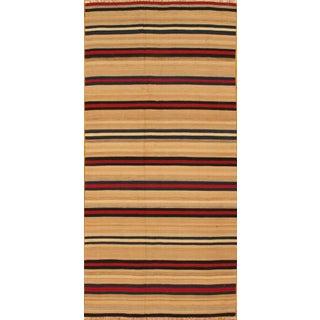 "Apadana MultiColor Striped Kilim Rug  - 4'8""x9'10"""