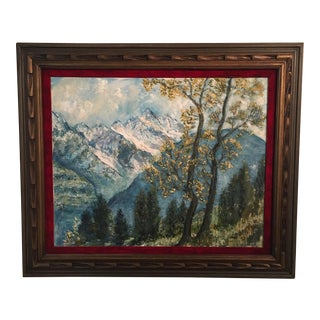 R. Woolman Mountain Landscape Oil Painting