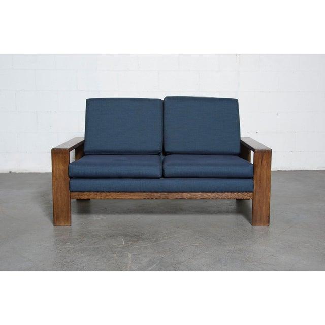 Wenge 70's Mod Love Seat - Image 2 of 8