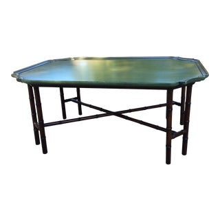 Vintage Kittinger Faux Bamboo Coffee Table