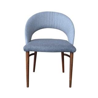 Vintage Frode Holm Rosewood & Gray Vanity Chair
