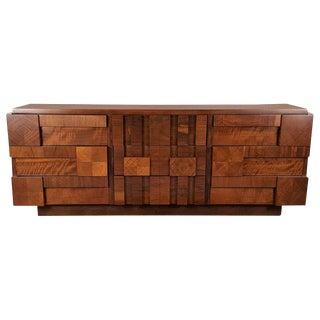 1960s Lane Restored Brutalist Mosaic Dresser
