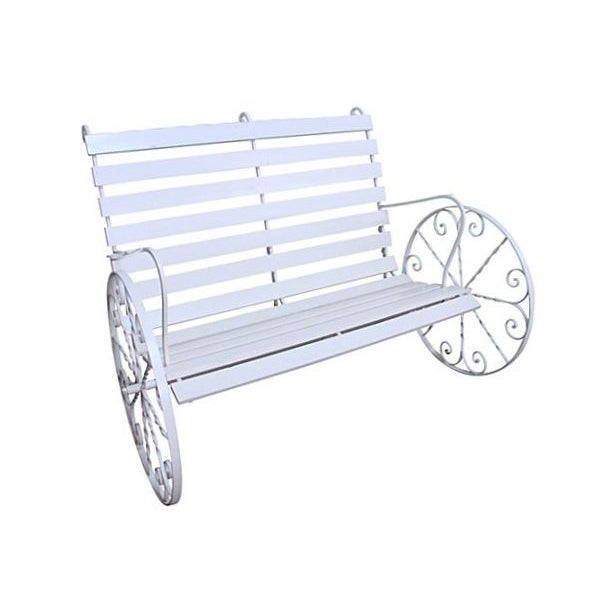 Image of White Carriage Bench