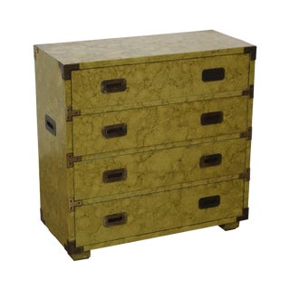 Henredon Vintage Faux Painted Campaign Chest of Drawers