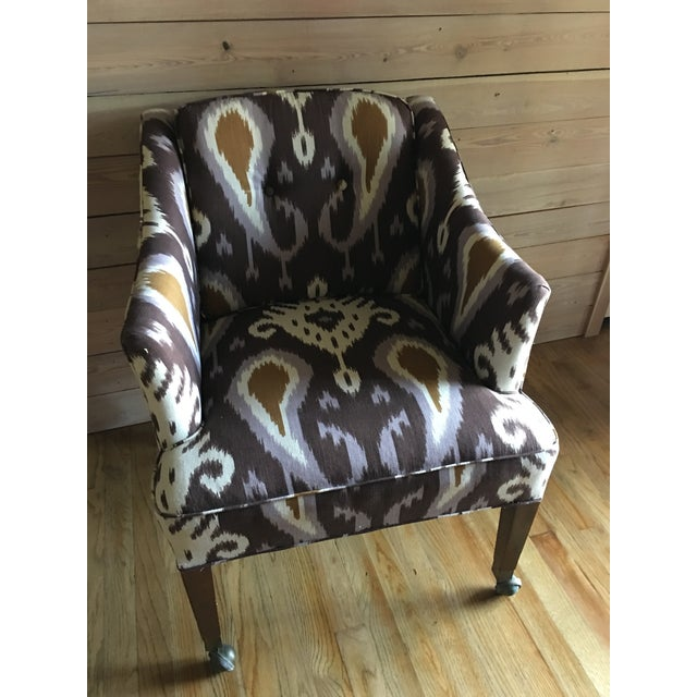 Ikat Linen Chair - Image 2 of 5