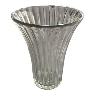 Anchor Hocking Fluted Glass Vase