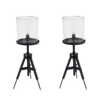 Tripod Iron Table Lamp - Pair