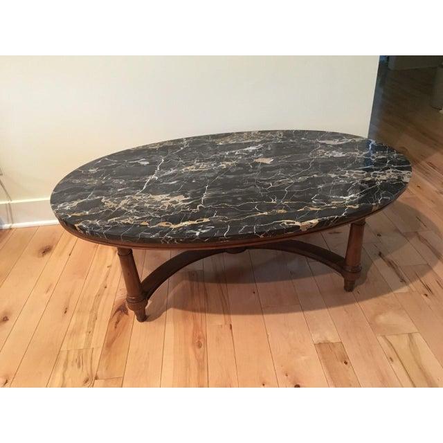 Marmi DI Carrara Marble Oval-Shaped Coffee Table - Image 2 of 5