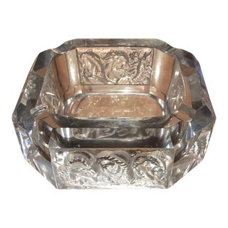 Heinrich Hoffmann Lalique Crystal Zodiac Ashtray