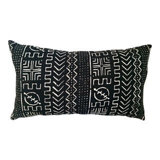 Black and White Mud Cloth Lumbar Pillow Cover