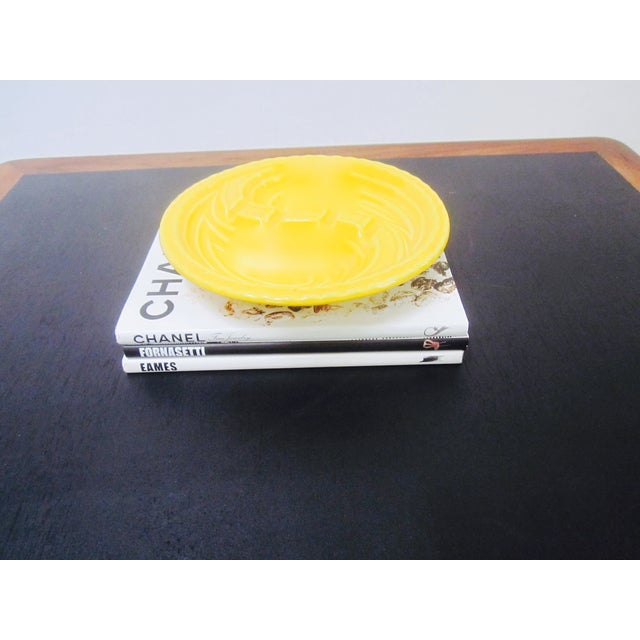 Mid-Century Modern Atomic Yellow Ashtray Dish - Image 8 of 8