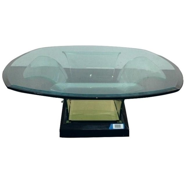 French Sculpted Base Cocktail Table - Image 1 of 6