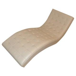 Roche Bobois Tufted Tan Lounge Seat