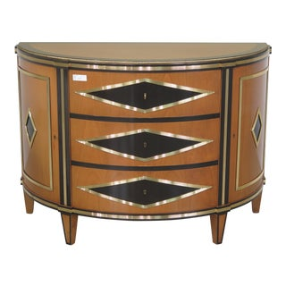 Colombo Mobili Neoclassical Satinwood Commode Chest