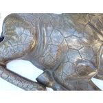 Image of Large Bronze Giraffe