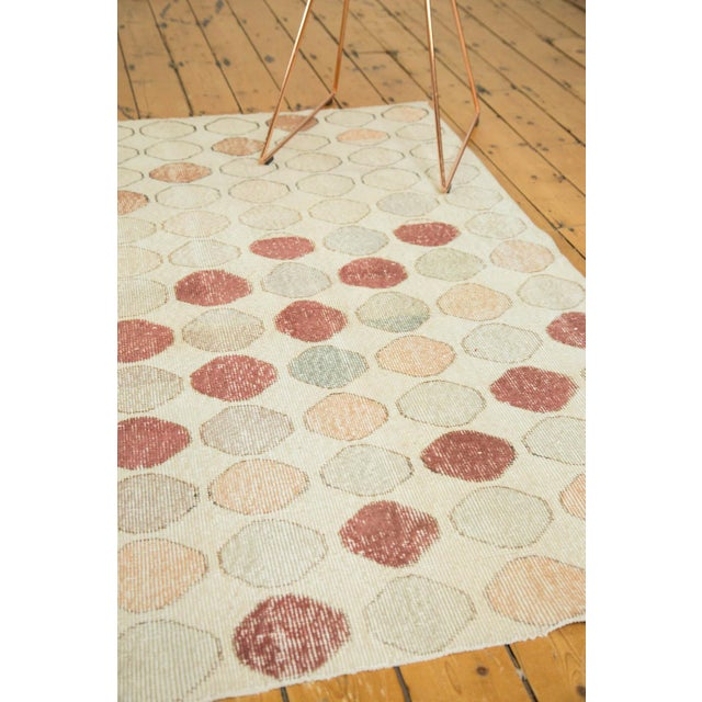 "Vintage Distressed Oushak Rug Runner - 3'3"" x 5'11"" - Image 8 of 9"