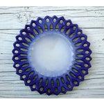 Image of Vintage Portuguese Majolica Ceramic Blue Platter