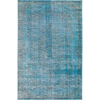 "Blue Overdyed Rug - 6'3"" x 9'9"""